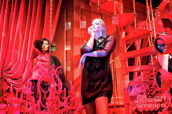 Photograph - Red Christmas At Saks Fifth Avenue In New York City by John Rizzuto