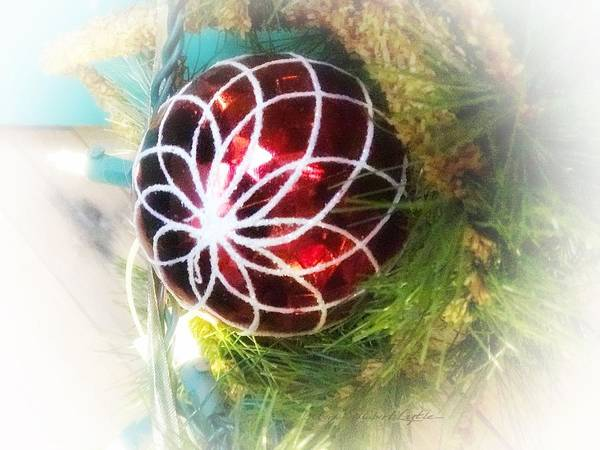 Red Christmas Ornament 2 Art Print