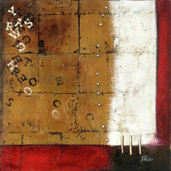 Wall Art - Painting - Red Contemporary IIi by Patricia Pinto