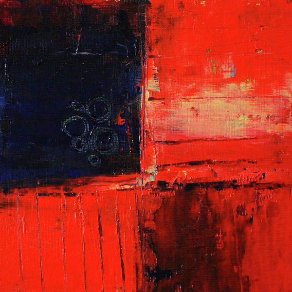 Wall Art - Painting - Red Corner Abstract by Nancy Merkle