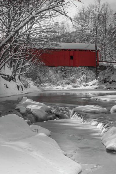 Photograph - Red Covered Bridge by Rob Davies