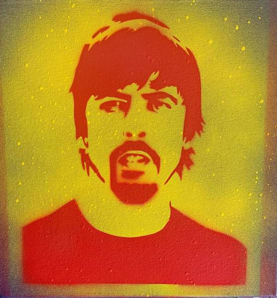 Dave Grohl Painting - Red Dave by Tom Power