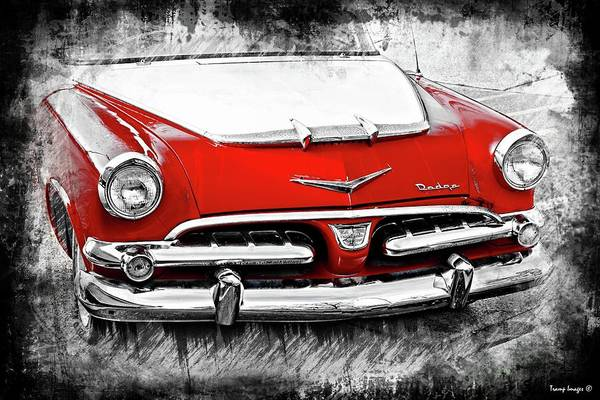 Digital Art - Red Dodge by Wesley Nesbitt