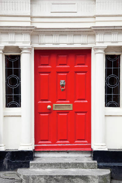 Entrance Photograph - Red Door by Opla