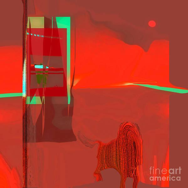 Organic Abstraction Mixed Media - Red Door To Santa Fe Sunset by Zsanan Studio
