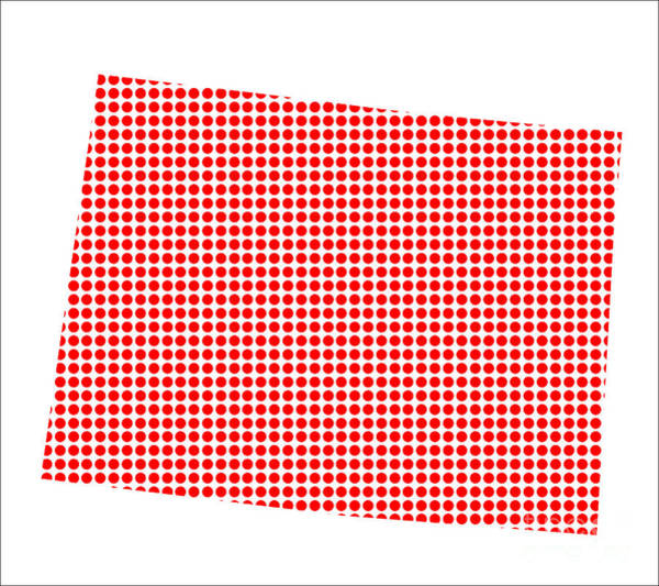 Perforations Digital Art - Red Dot Map Of Colorado by Bigalbaloo Stock