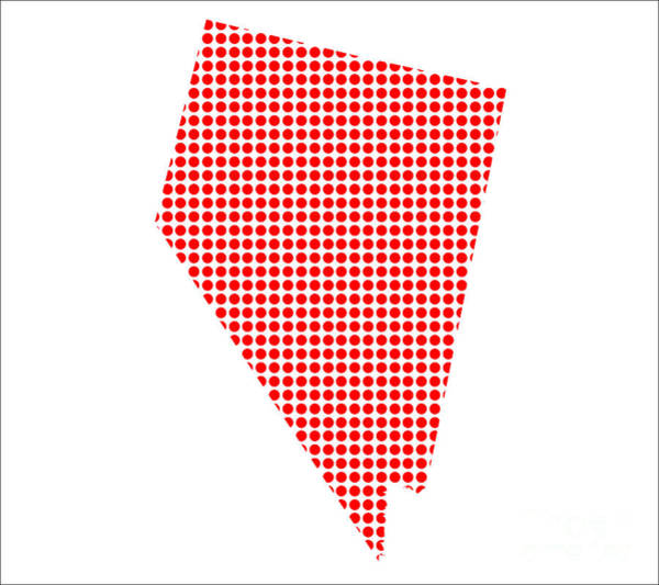 Perforations Digital Art - Red Dot Map Of Nevada by Bigalbaloo Stock