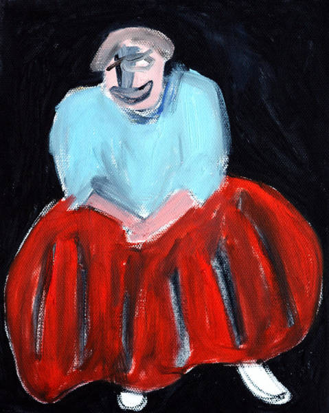Painting - Red Dress by Artist Dot
