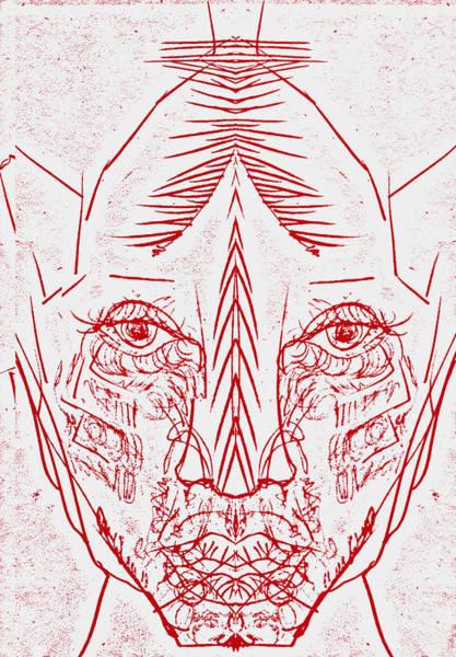 Digital Art - Red Face by Artist Dot