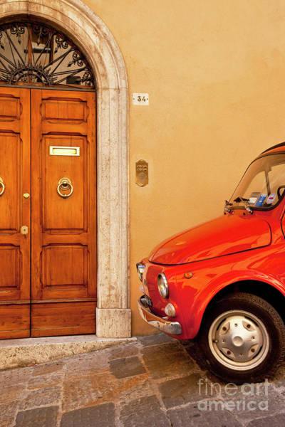 Photograph - Red Fiat by Brian Jannsen