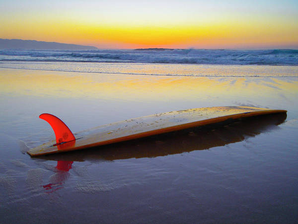 Wall Art - Photograph - Red Fin Surfboard by Sean Davey