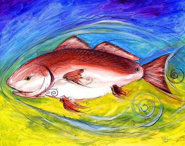Painting - Red Fish by J Vincent Scarpace