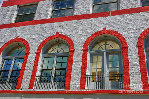 Photograph - Red Framed Doors by Tom Claud