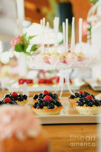 Photograph - Red Fruits On Puff Pastry Tartlets, Colorful And Well Focused. by Joaquin Corbalan