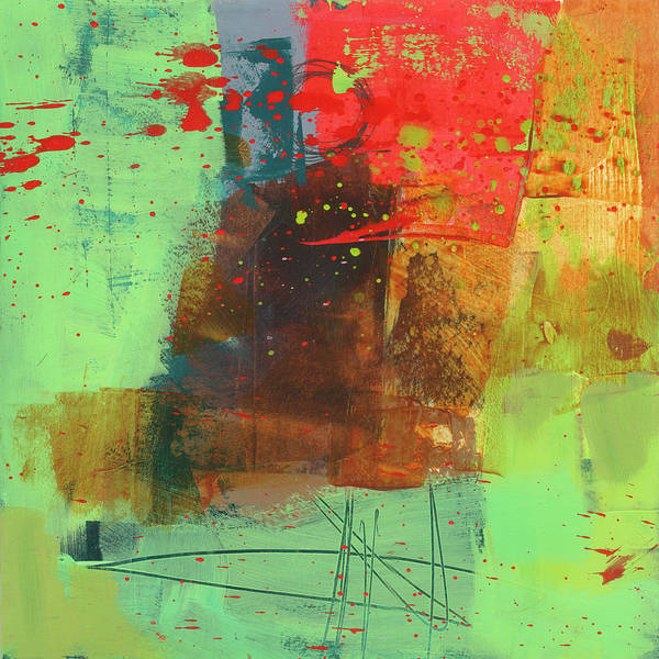 Wall Art - Painting - Red Green Hot Mess by Jane Davies