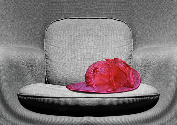 Wall Art - Photograph - Red Hat - Chair by Nikolyn McDonald