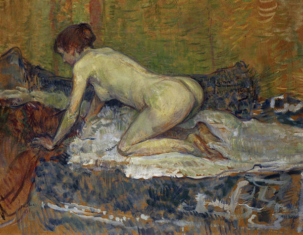 Henri Toulouse-lautrec Painting - Red-headed Nude Crouching, 1897 by Henri de Toulouse-Lautrec