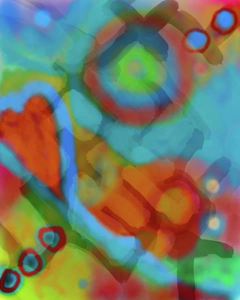 Wall Art - Digital Art - Red Heart Abstract by Susan Stone