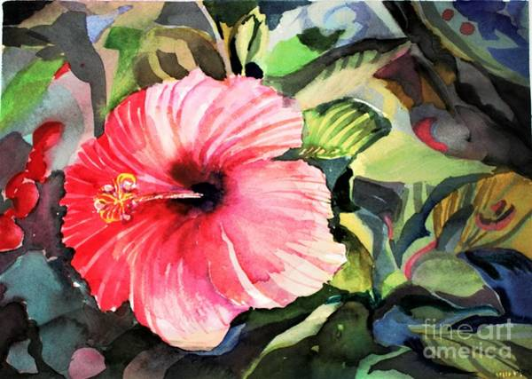 Wall Art - Painting - Red Hibiscus by Mindy Newman