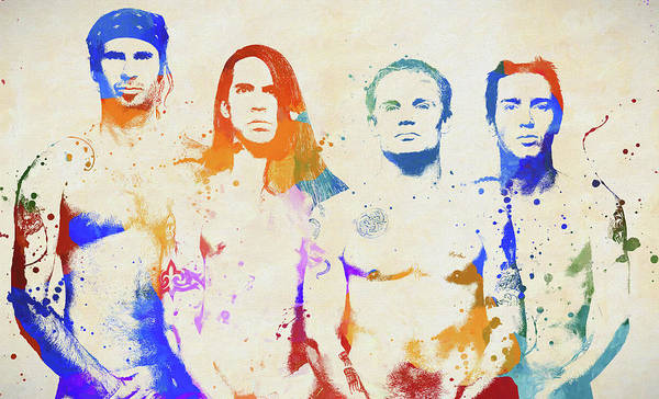 Wall Art - Painting - Red Hot Chili Peppers by Dan Sproul