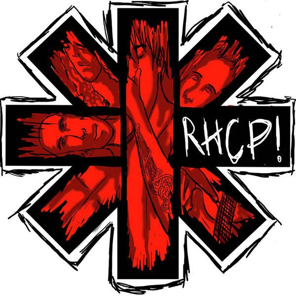 Wall Art - Digital Art - Red Hot Chili Peppers by Geek N Rock