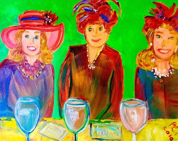 Wall Art - Painting - Red Hot Hatties by Patricia Clark Taylor