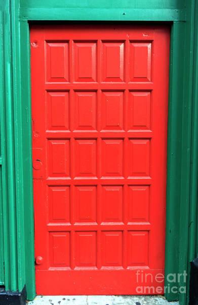 Photograph - Red Irish Pub Door In Boston 2010 by John Rizzuto