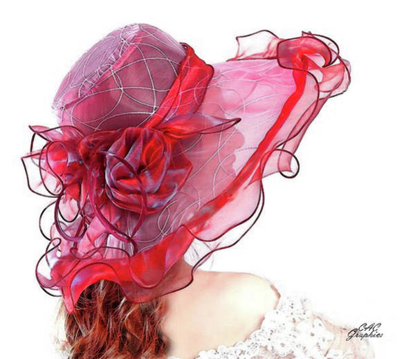 Digital Art - Red Kentucky Derby Hat by CAC Graphics