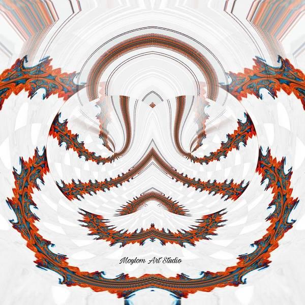 Digital Art - Red Land 7 by Moylom Art Studio