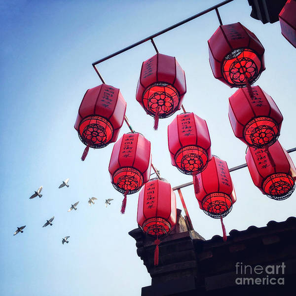 Photograph - Red Lanterns by Iryna Liveoak