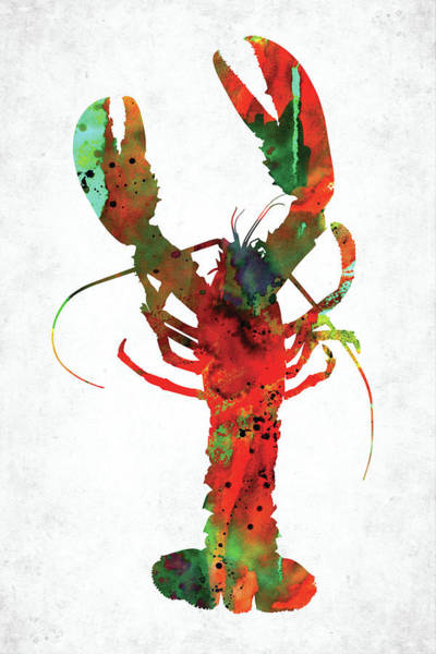 Wall Art - Digital Art - Red Lobster Watercolor by Mihaela Pater