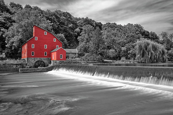 Wall Art - Photograph - Red Mill In Clinton New Jersey Sc by Susan Candelario
