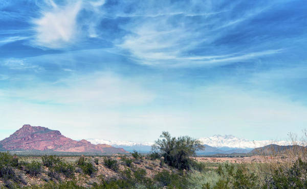 Photograph - Red Mountain And Four Peaks Snow 5104-022519-1p by Tam Ryan