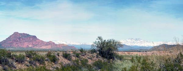 Photograph - Red Mountain And Four Peaks Snow 5104-022519-2cr-p by Tam Ryan
