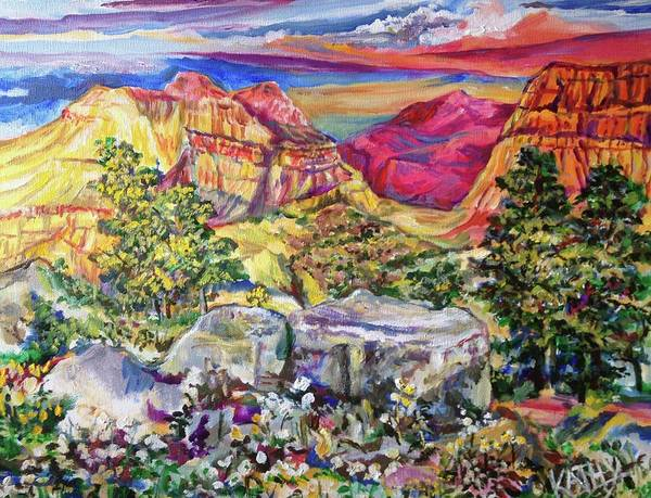 Wall Art - Painting - Red Mountain by Kathy Hauge