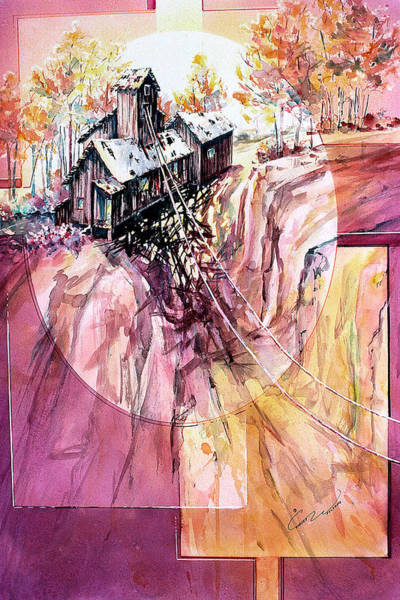 Painting - Red Mountain Mine by Connie Williams