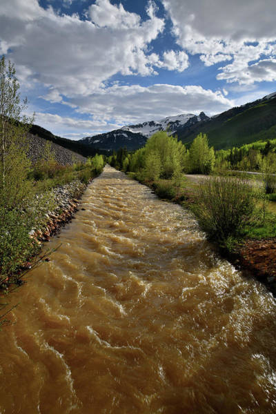 Photograph - Red Mountain Pass Ironton Creek by Ray Mathis