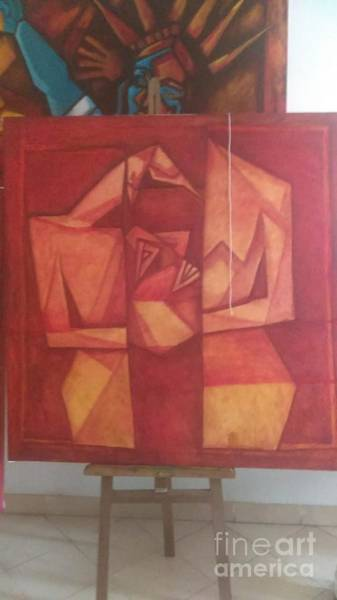 Wall Art - Painting - Red by Narayan Khatua