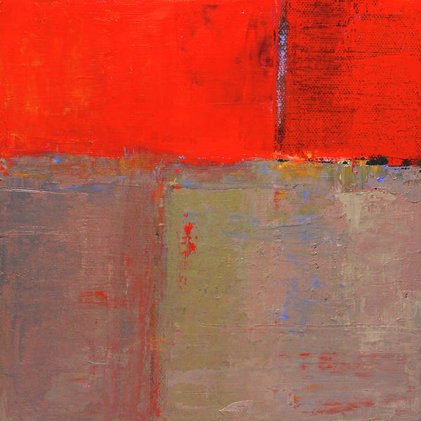 Painting - Red Night Abstract by Nancy Merkle