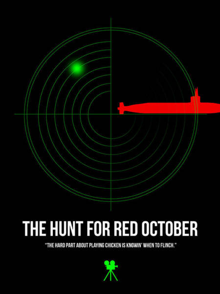 Hunt Digital Art - Red October by Naxart Studio