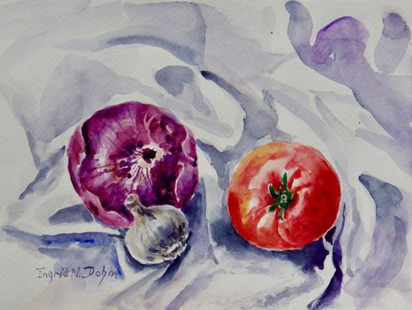 Painting - Red Onion by Ingrid Dohm