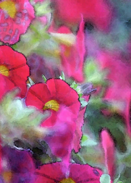 Photograph - Red Petunias 6556 Idp_3 by Steven Ward