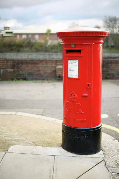 Mailbox Photograph - Red Pillar Post Box by Tom And Steve