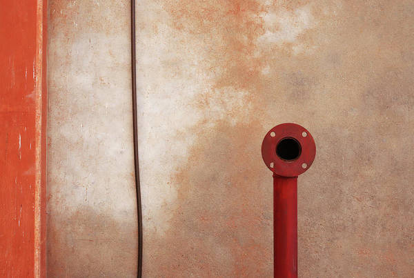 Photograph - Red Pipe Versus The Wire by Prakash Ghai