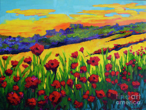 Painting - Red Poppies In Spring by Patricia Awapara