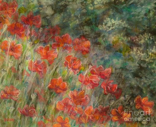 Pastel - Red Poppies by Lisa Bliss Rush
