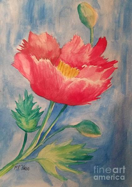 Wall Art - Painting - Red Poppy by Maria Urso