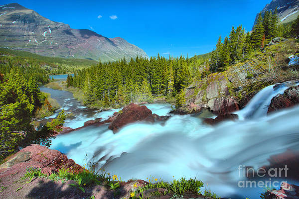 Photograph - Red Rock Falls Spring Gusher by Adam Jewell
