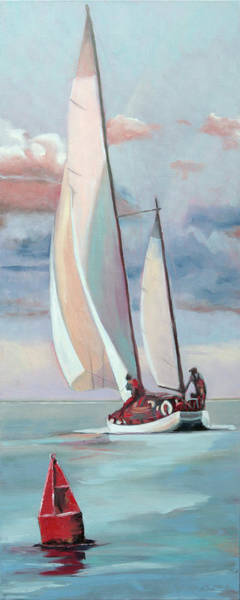Painting - Red Right Returning by Trina Teele