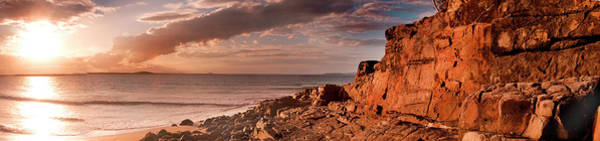 Noosa Wall Art - Photograph - Red Rock And Red Light Explored by Edwin Emmerick Photography
